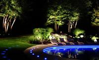 Blue light in pool